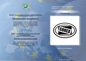 Znak towarowy - SOREX